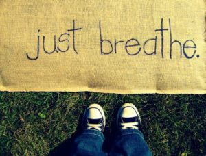breath heavily to overcome anxiety problems